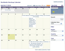 Worldwide Meetings Calendar