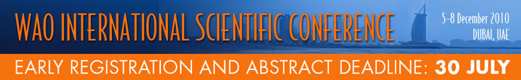 WISC Dubai, 5-8 December 2010 - Early Registration and Abstract Deadline 30 July
