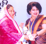 Ruby Pawankar presented with award