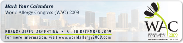 World Allergy Congress (WAC) 2009 - Buenos Aires, Argentina, 6-10 December 2009