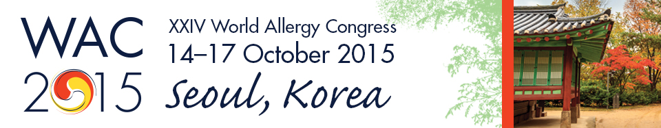 WAC 2015 - XXIII World Allergy Congress, 14-17 October, 2015, Seoul, Korea