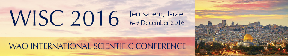 WAO International Scientific Conference 2016 - Jerusalem, Israel - December 2016